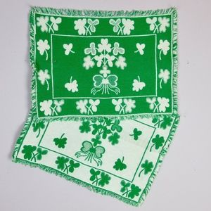 Vintage St Patricks Day Placemats, Set of Four